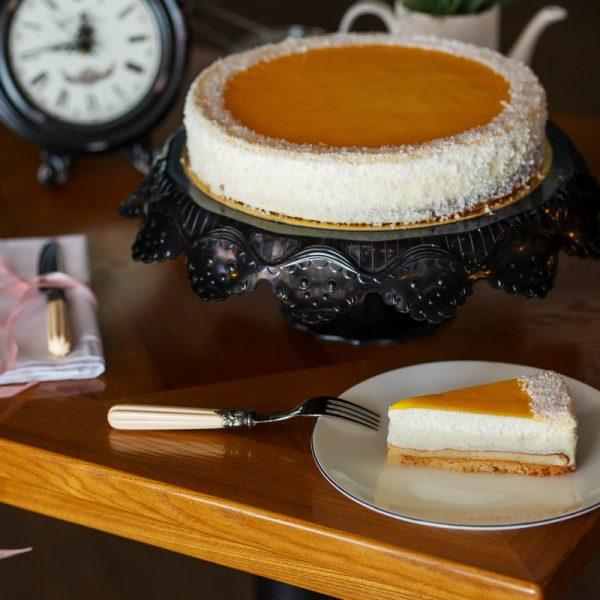 Торт на заказ Чиз-кейк Сатин апельсиновый