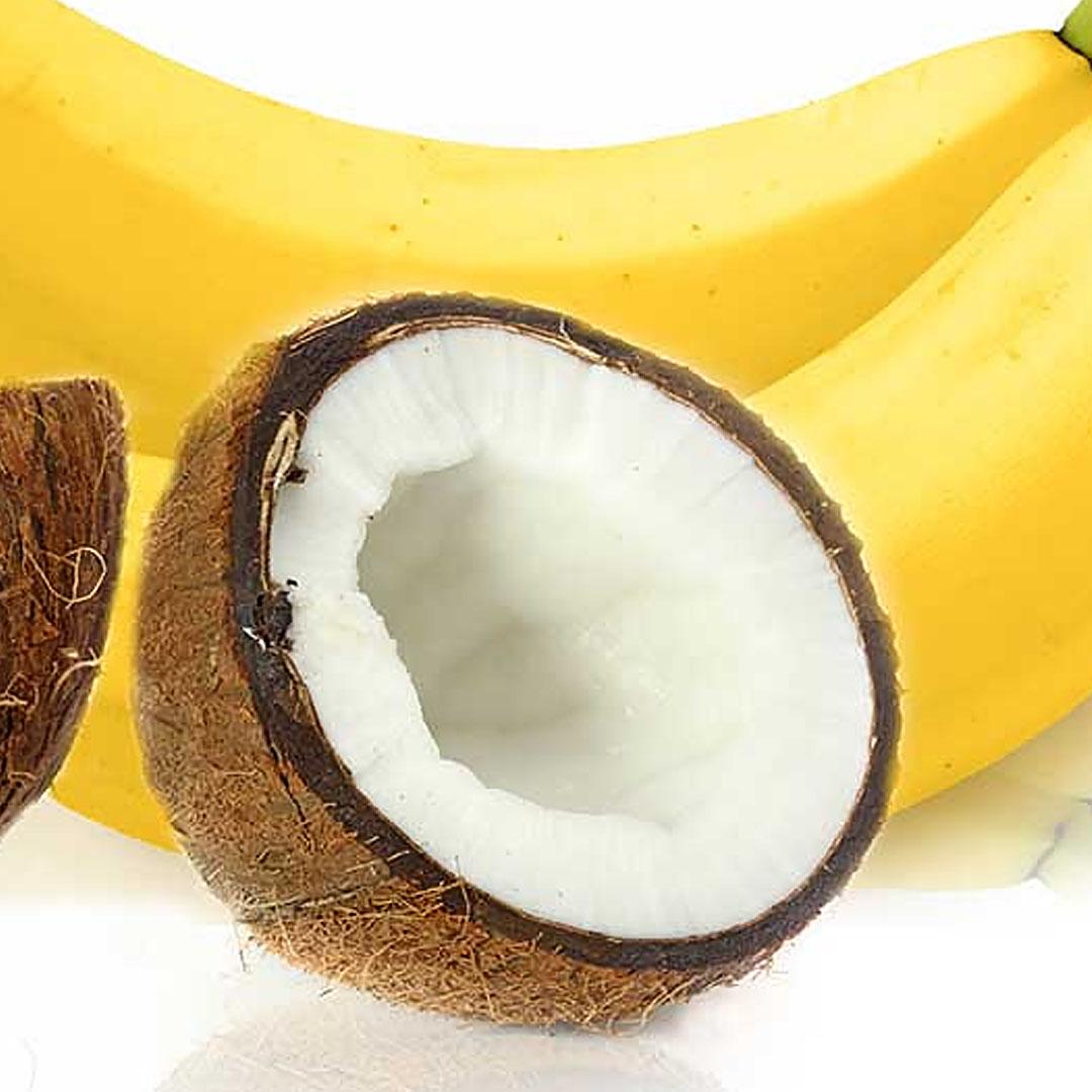макаронс банановый со вкусом кокоса