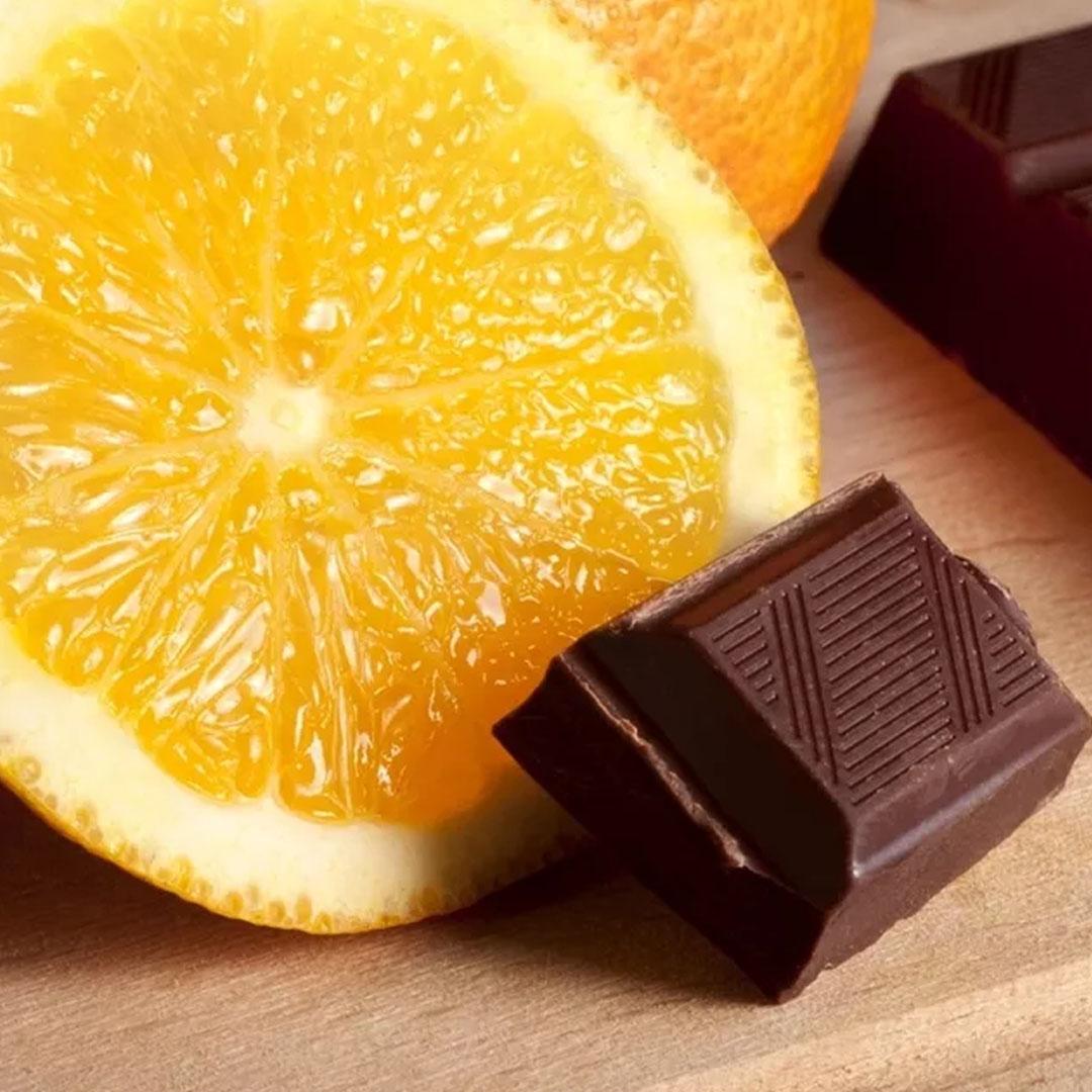макаронс со вкусом апельсина шоколадного